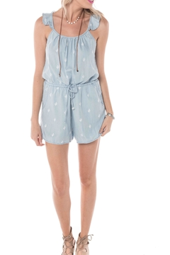Buddy Basics Cactus Chambray Romper - Alternate List Image