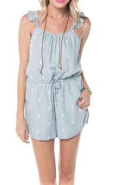Buddy Basics Cactus Chambray Romper - Product Mini Image