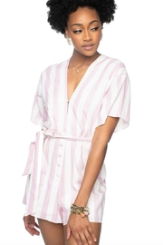Buddy Love Audrey Stripe Romper - Product Mini Image