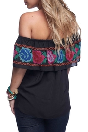 Buddy Love Cerveza Embroidered Top - Front full body