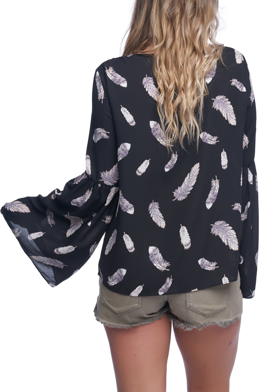 Buddy Love Feather Flare Top - Front Full Image