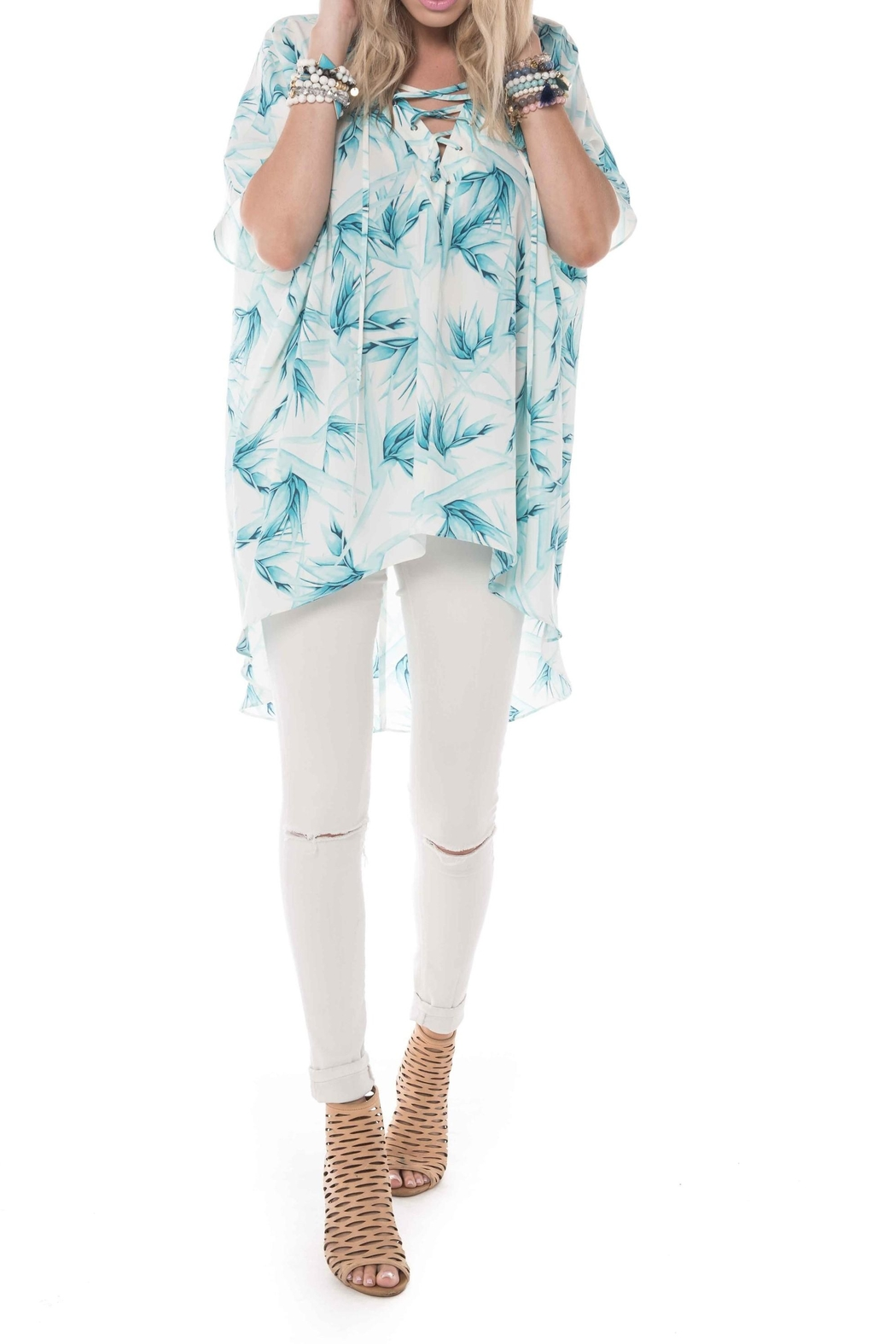 Buddy Love Lotus Tunic Top - Side Cropped Image