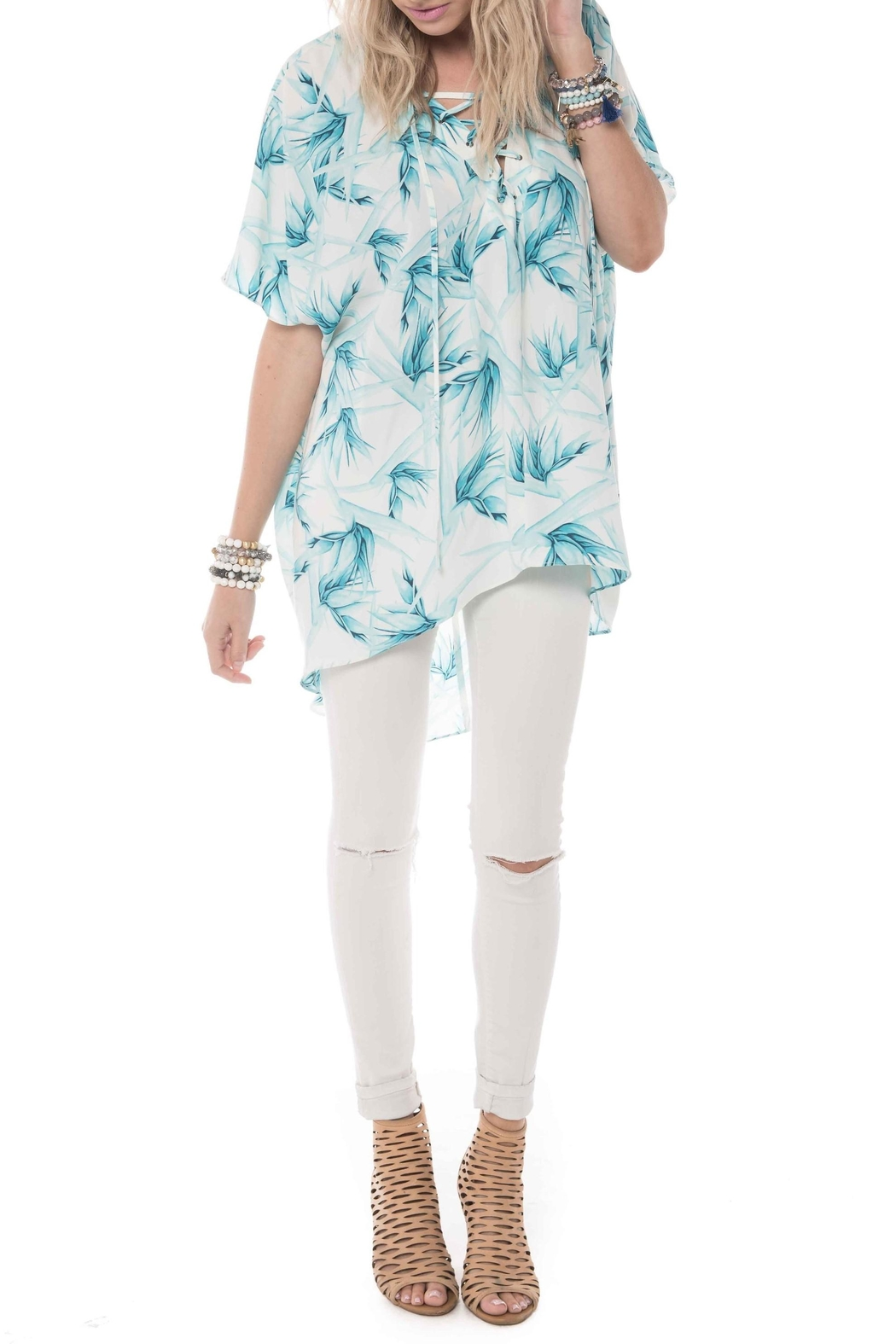Buddy Love Lotus Tunic Top - Front Full Image