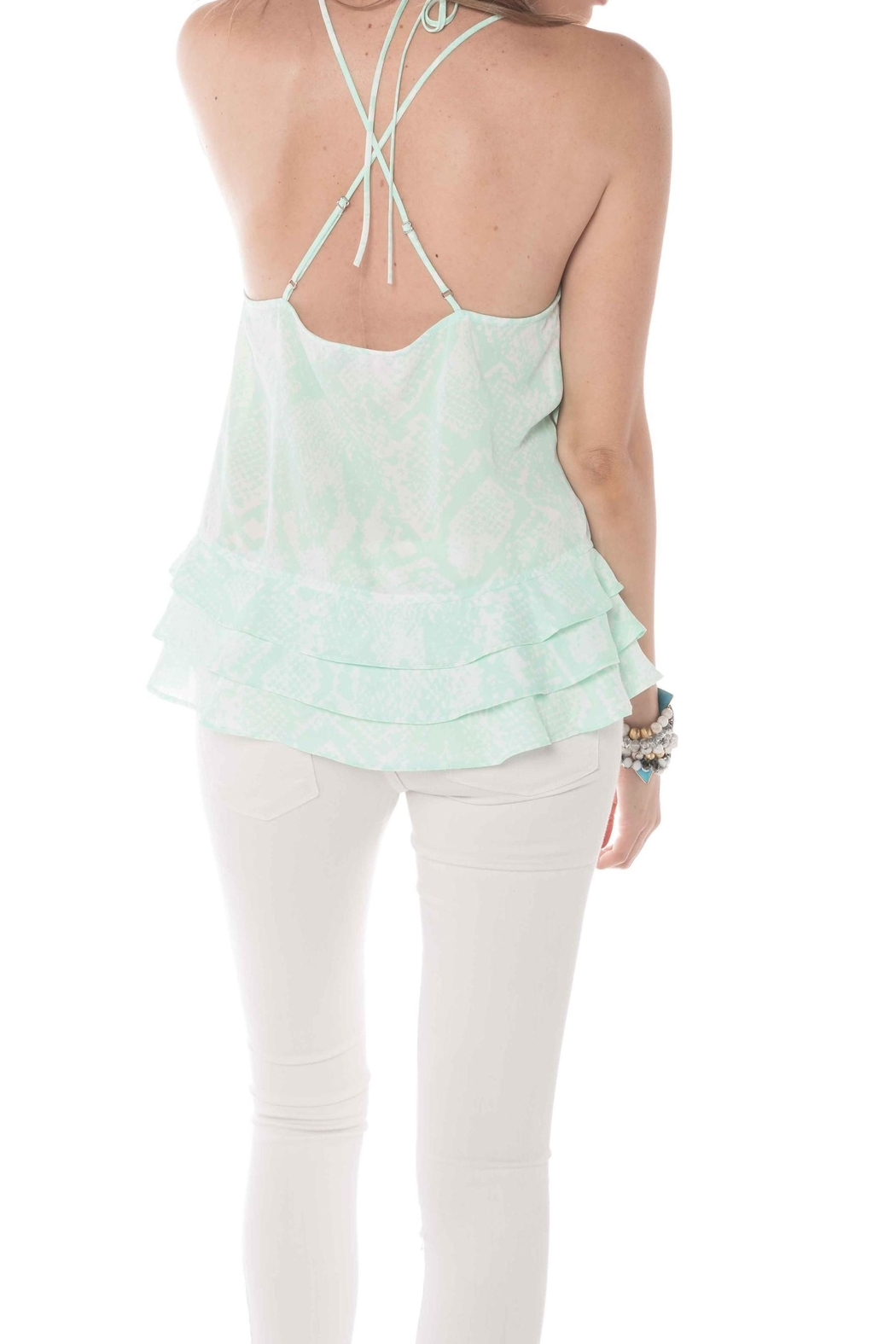 Buddy Love Luna Mint Tank - Front Full Image