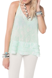 Buddy Love Luna Mint Tank - Front cropped