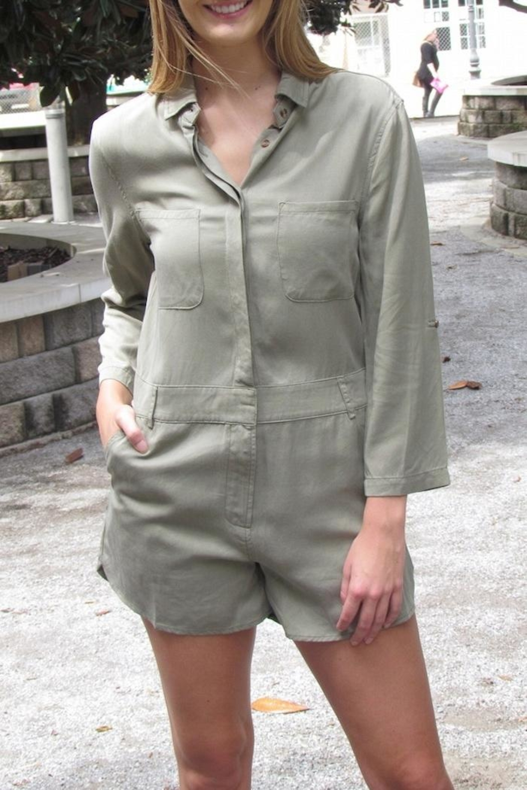 Buddy Love Military Romper - Front Full Image