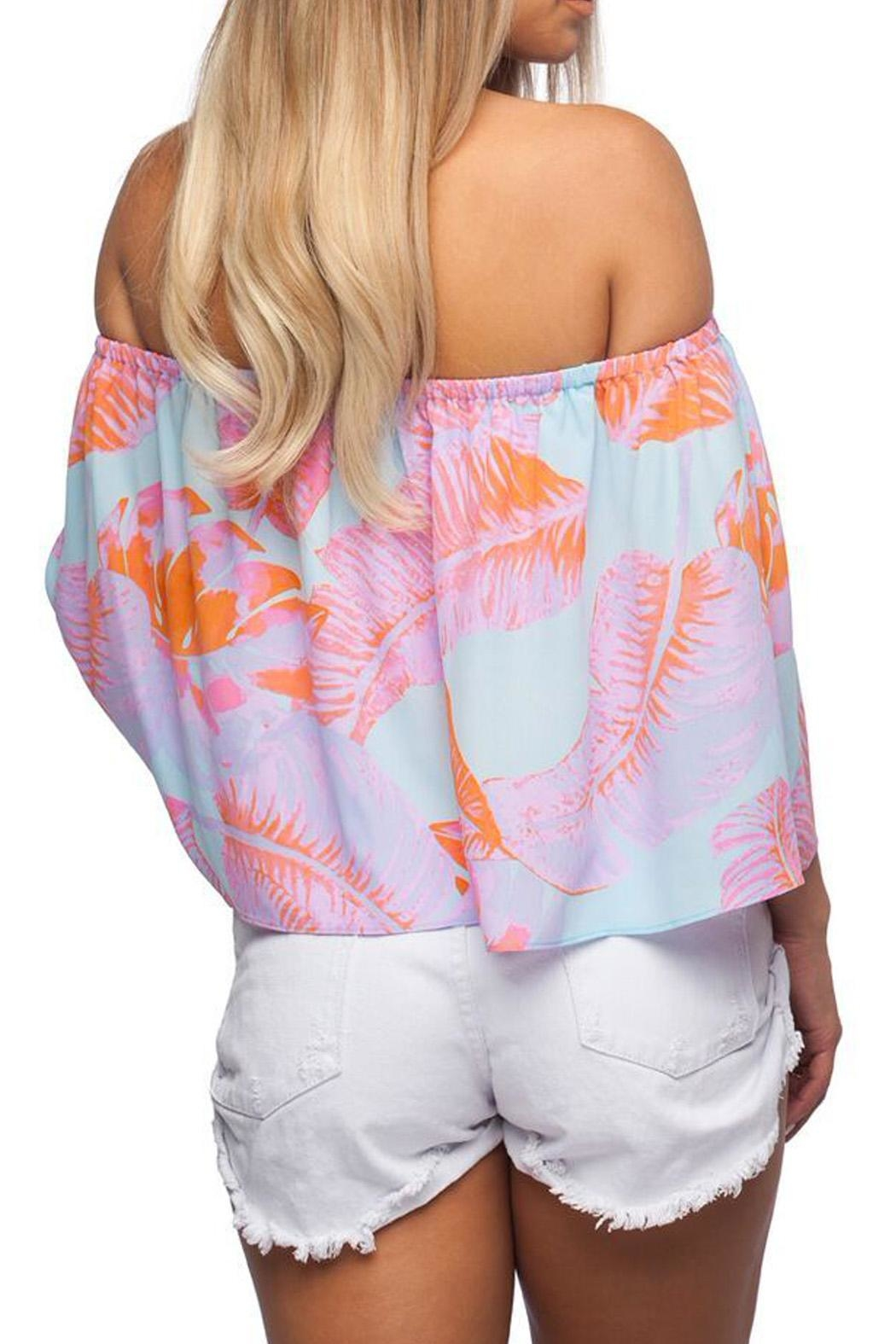 Buddy Love Palm Print Top - Front Full Image