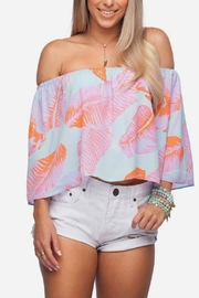 Buddy Love Palm Print Top - Product Mini Image