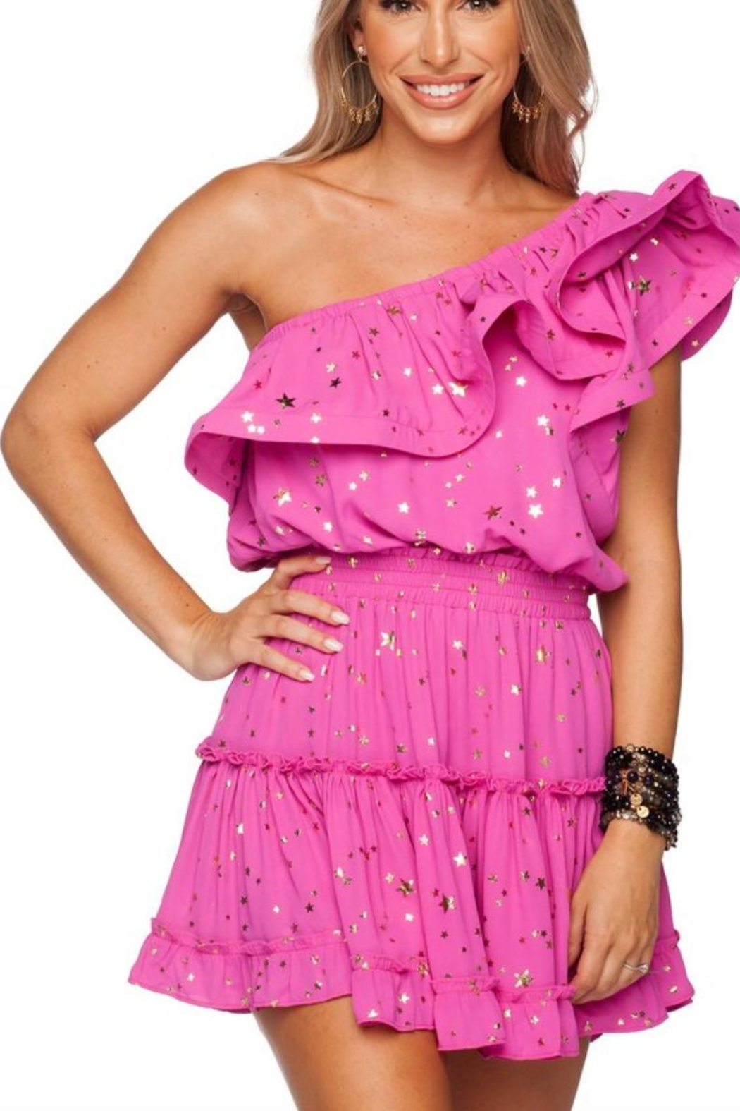 Buddy Love Sofia Pink Dress - Front Cropped Image