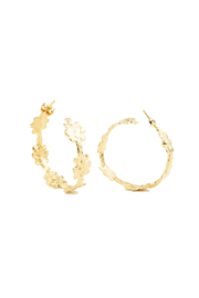 Jessica Ricci Jewelry Buenos Aires Lace Hoop Earrings - Product Mini Image