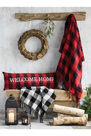 Mud Pie Buffalo Check Blanket - Front cropped