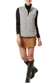 Mud Pie Buffalo Check Vest - Front cropped