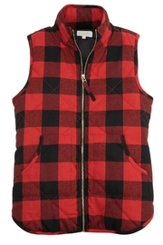 Mud Pie Buffalo Check Vest - Product Mini Image