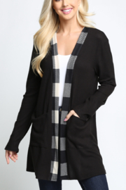 Lyn-Maree's  Buffalo Plaid Cardi - Product Mini Image
