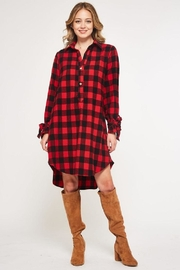 Bellamie Buffalo Plaid Dress - Product Mini Image