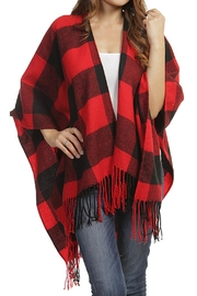Wild Lilies Jewelry  Buffalo Plaid Poncho - Product Mini Image
