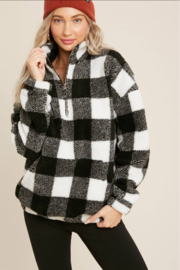 Bluivy Buffalo Plaid Pullover - Front cropped