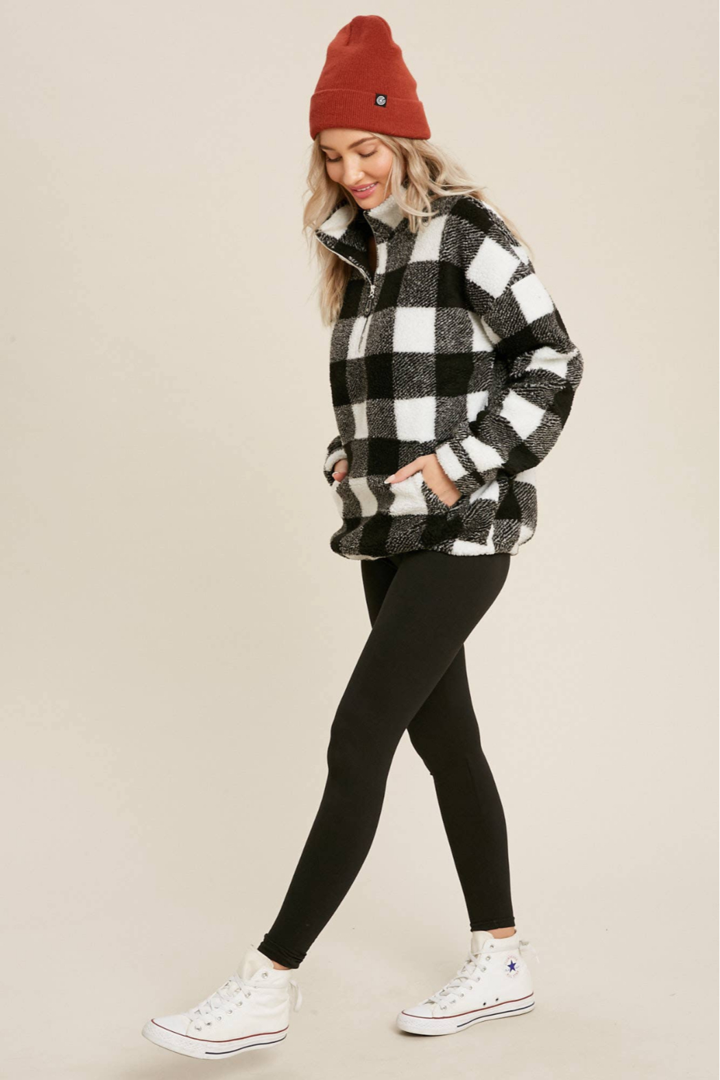 Bluivy Buffalo Plaid Pullover - Front Full Image