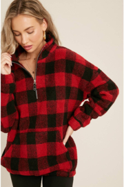 Bluivy Buffalo Plaid Pullover - Side cropped