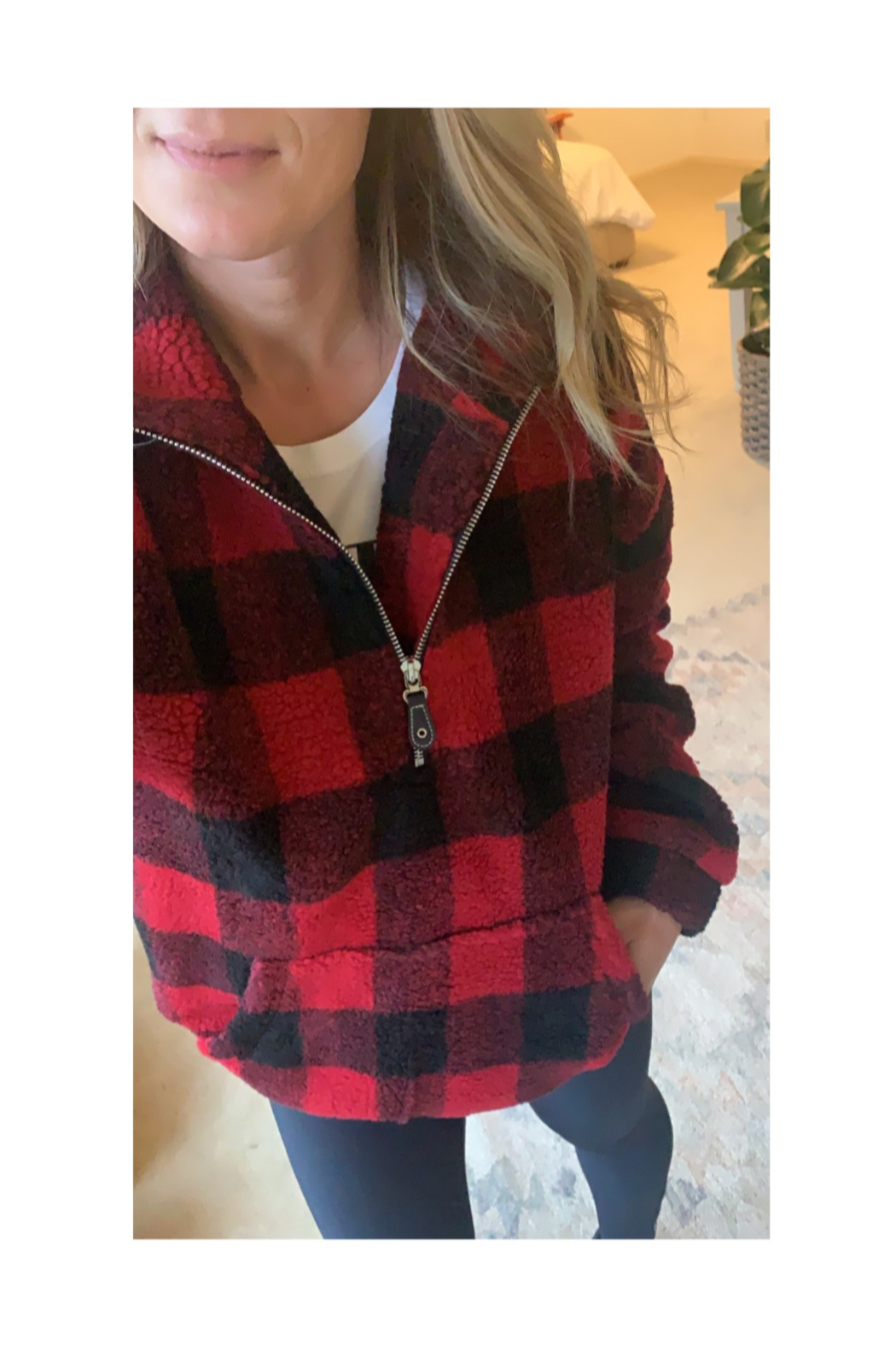 Bluivy Buffalo Plaid Pullover - Main Image
