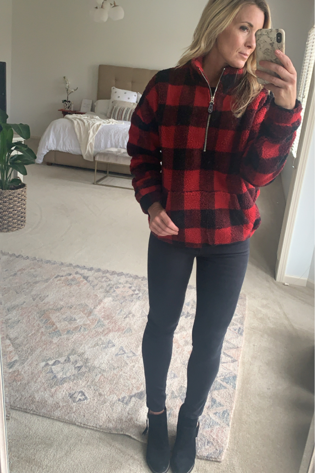 Bluivy Buffalo Plaid Pullover - Front Cropped Image