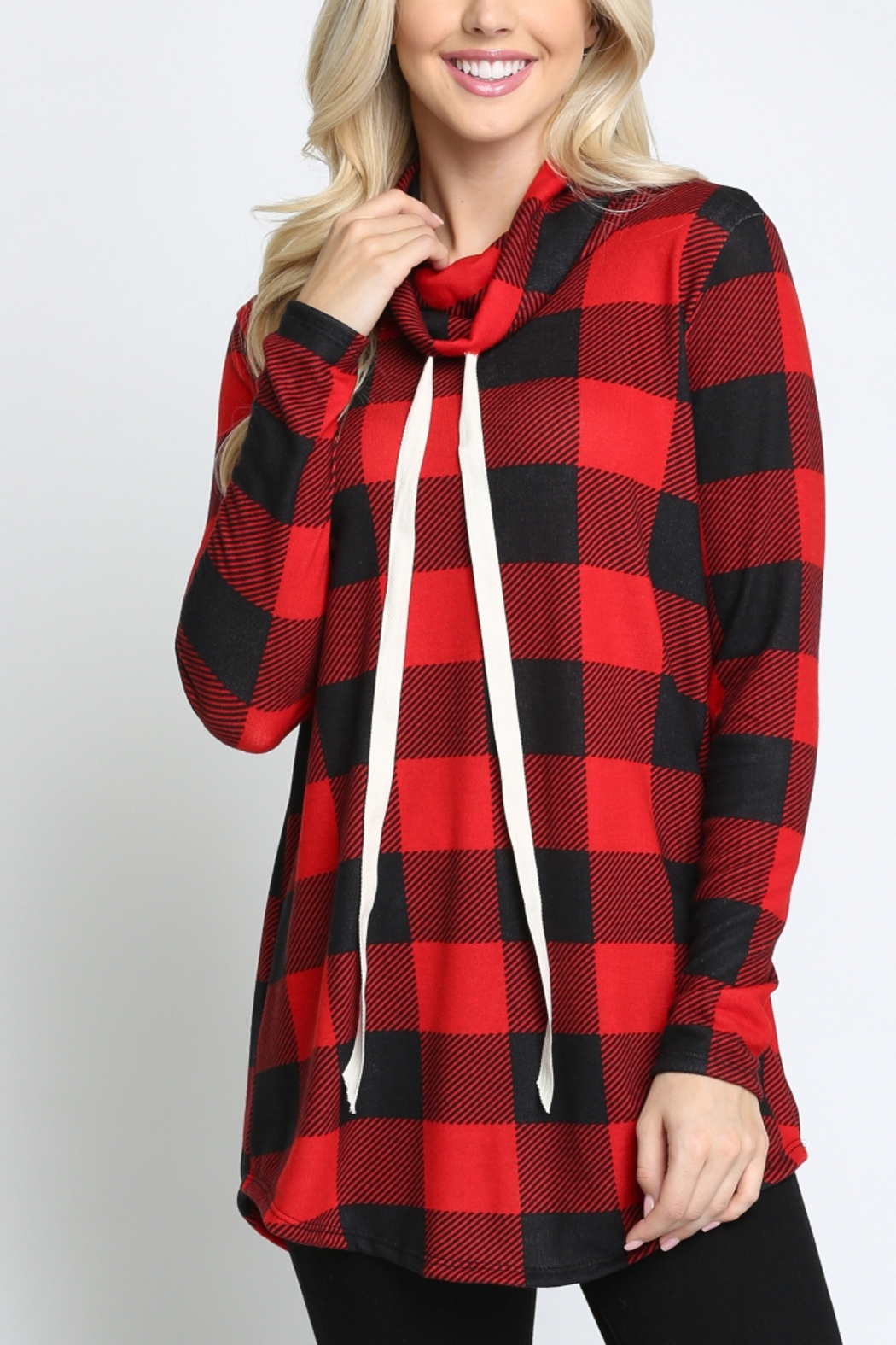 Lyn -Maree's Buffalo Plaid Pullover - Front Cropped Image