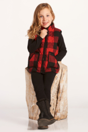 Giftcraft Inc.  Buffalo Plaid Quilted Vest - Product Mini Image