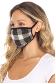 Chris and Carol Buffalo Plaid Reversible Mask - Product Mini Image