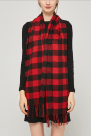 NY Collection Buffalo plaid scarf - Front cropped