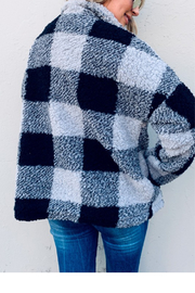 And the Why Buffalo Plaid Sherpa Jacket - Front full body