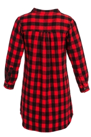 Evergreen Enterprises Buffalo Plaid Shirtdress - Side cropped