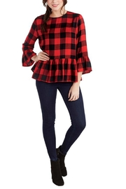 Mud Pie Buffalo Plaid Top - Product Mini Image