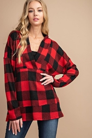 FSL Apparel Buffalo Plaid V Neck Top - Product Mini Image