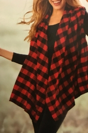 Charlie Paige Buffalo Plaid Vest - Product Mini Image