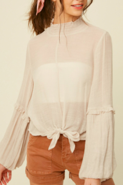 Listicle Buffy Linen Tie Top - Product List Image