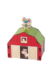 Fat Brain Toys Build It Blueprints 3-D Barn - Front full body