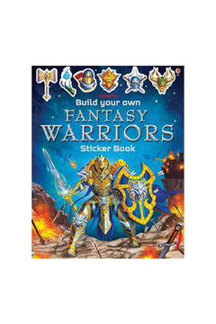 Usborne Build Your Own Fantasy Warrior Sticker Book - Product List Image