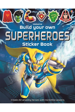 Usborne Build Your Own Superheroes Sticker Book - Product List Image