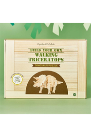 Cupcakes and Cartwheels Build Your Own Walking Triceratops 3D Dinosaur Puzzle - Product Mini Image
