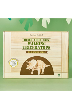 Cupcakes and Cartwheels Build Your Own Walking Triceratops 3D Dinosaur Puzzle - Product List Image