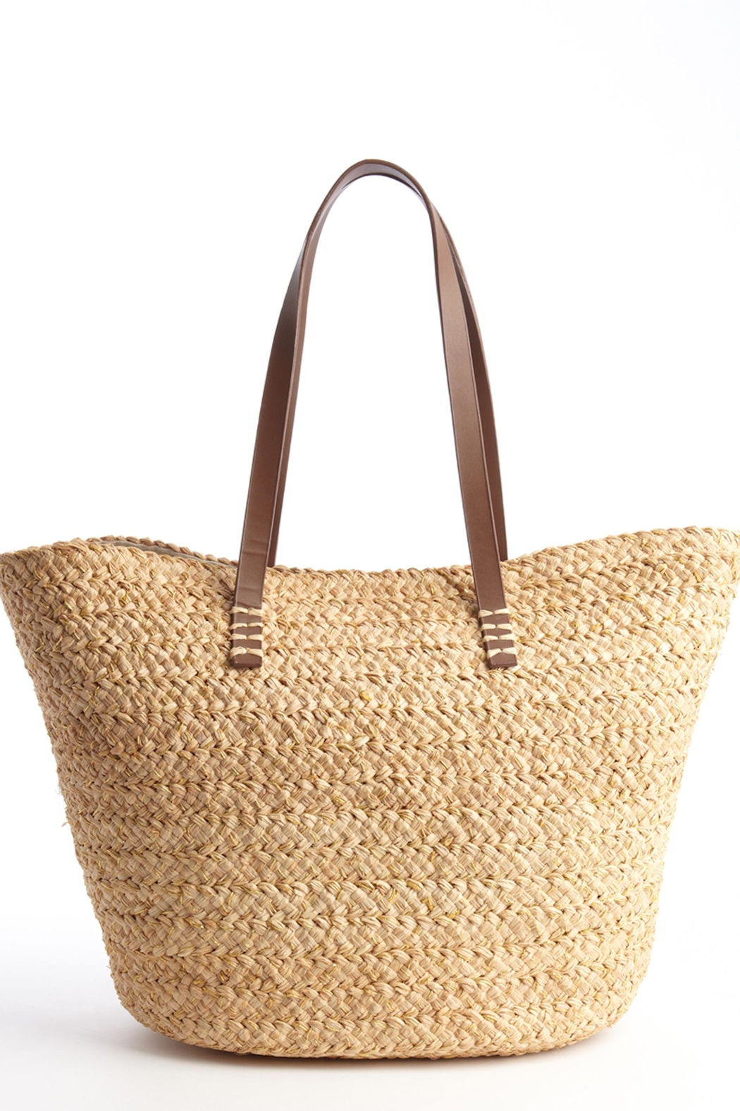 Buji Baja French Straw Tote - Front Cropped Image