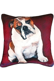 Manual Woodworkers and Weavers Bulldog Baby Pillow - Front cropped