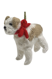Arcadia Home Bulldog - Hand Knit Alpaca Ornament - Product Mini Image