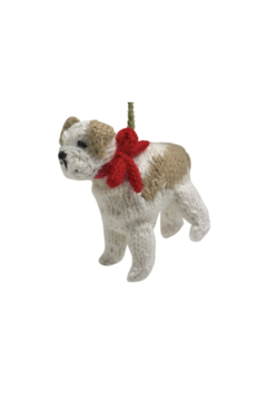Arcadia Home Bulldog - Hand Knit Alpaca Ornament - Alternate List Image