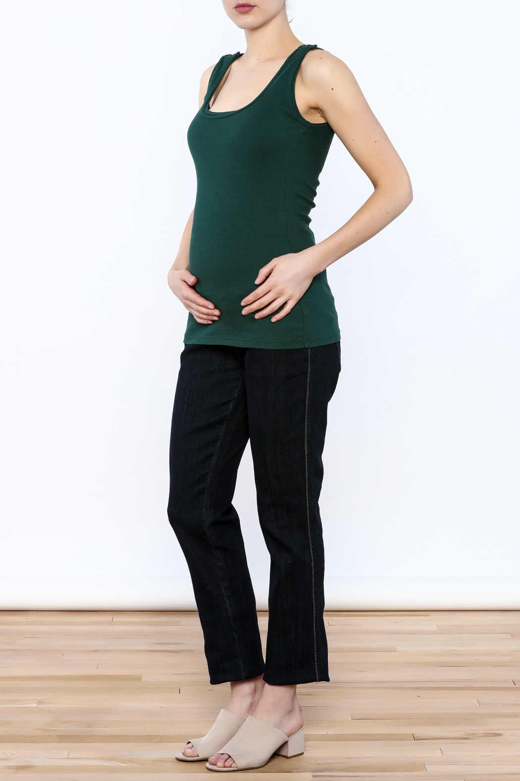 Bun Forest Green Tank Top - Front Full Image