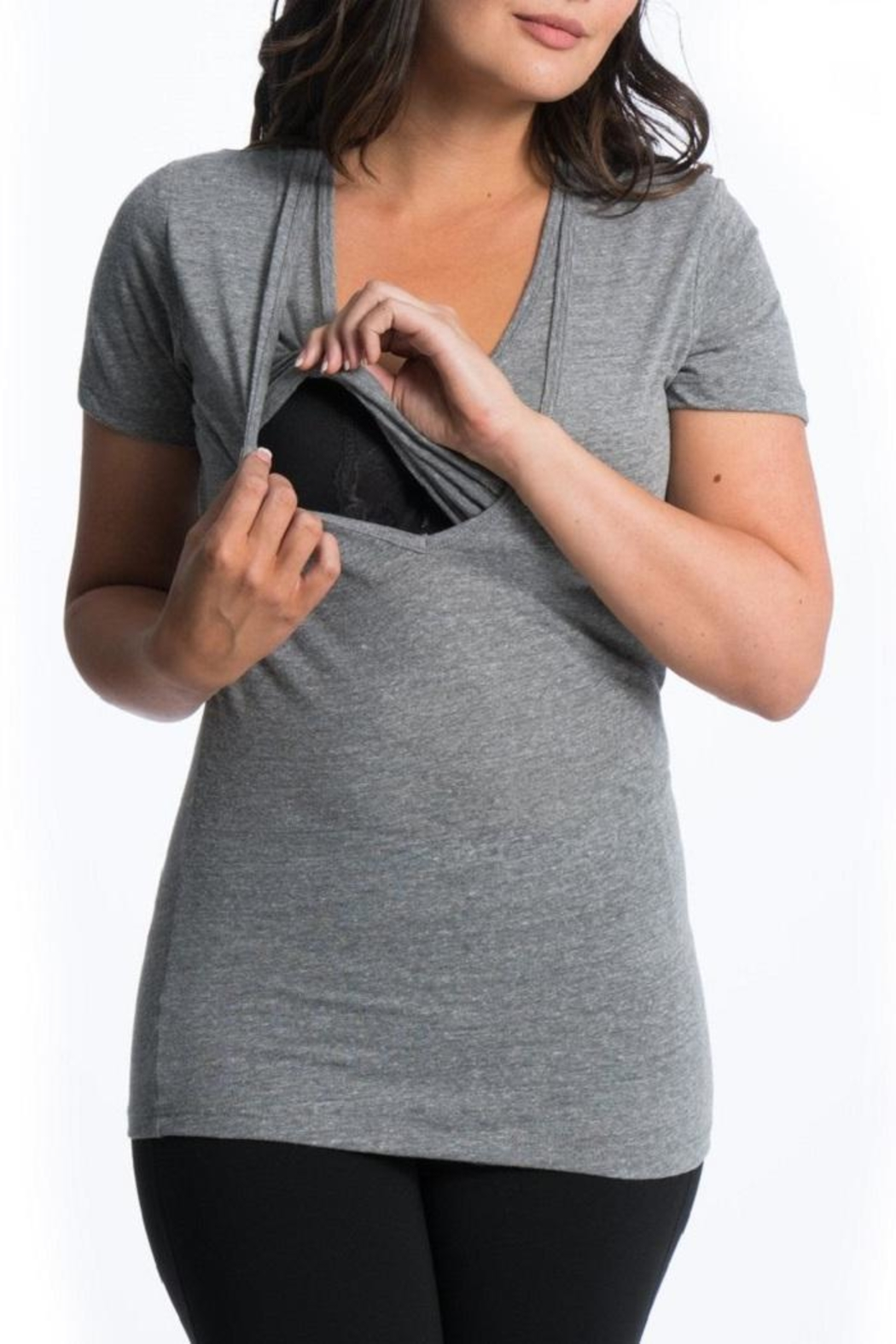 Bun Maternity Softie Nursing Tee - Side Cropped Image
