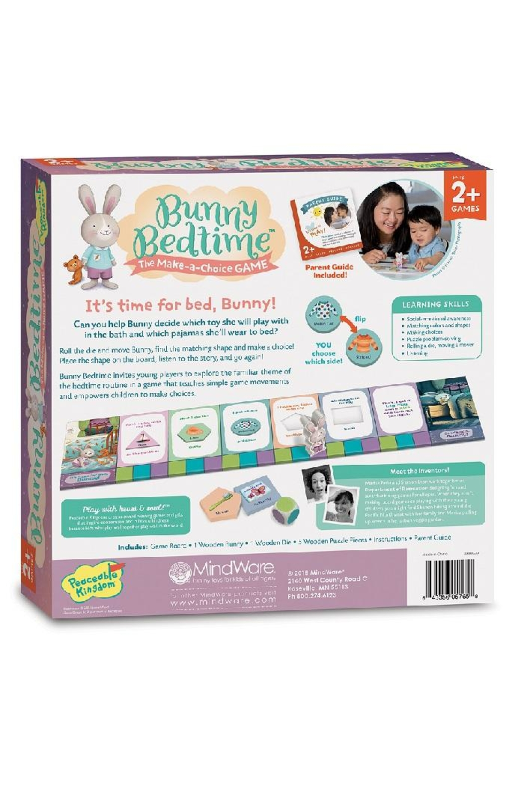 Peaceable Kingdom Bunny Bedtime - Front Full Image