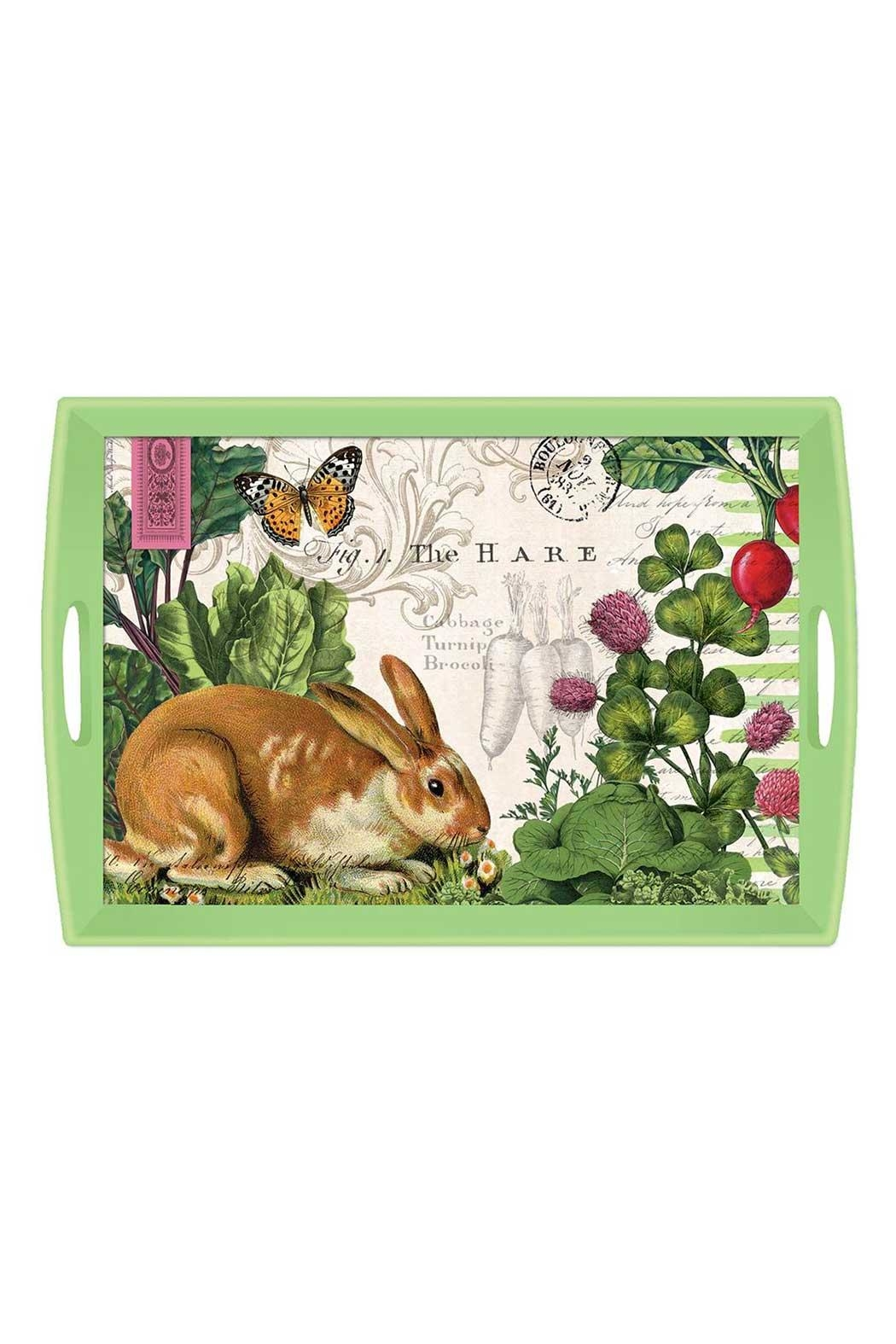 Michel Design Works Bunny Garden Tray - Front Cropped Image