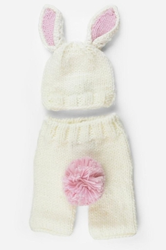 The Blueberry Hill Bunny hand-knit newborn set - Product List Image