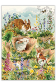 Michel Design Works Bunny Hollow Kitchen Towel - Product Mini Image